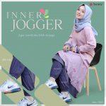 Aurany Inner Jogger Abu Tua - Distributor Rok Celana Muslimah
