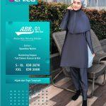 Baju Renang Alnita ABR 01 Abu Tua - Agen Baju Renang Muslim